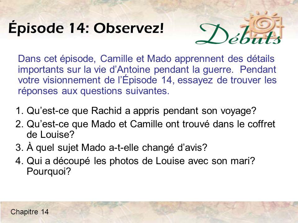 Épisode 14: Observez.