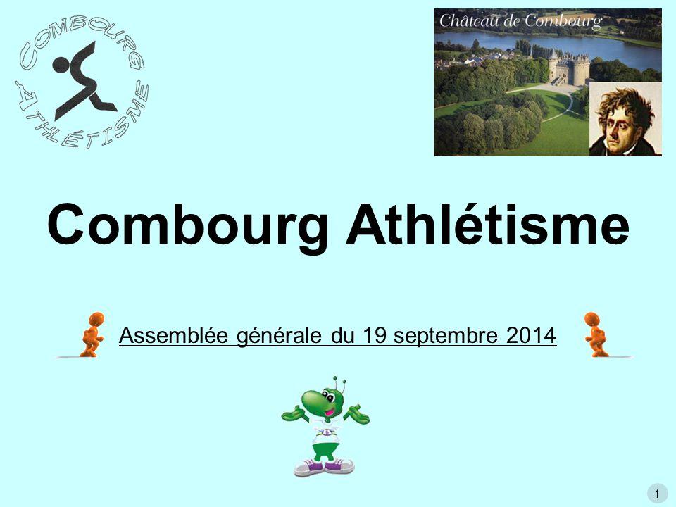 1 Combourg Athlétisme Assemblée générale du 19 septembre 2014