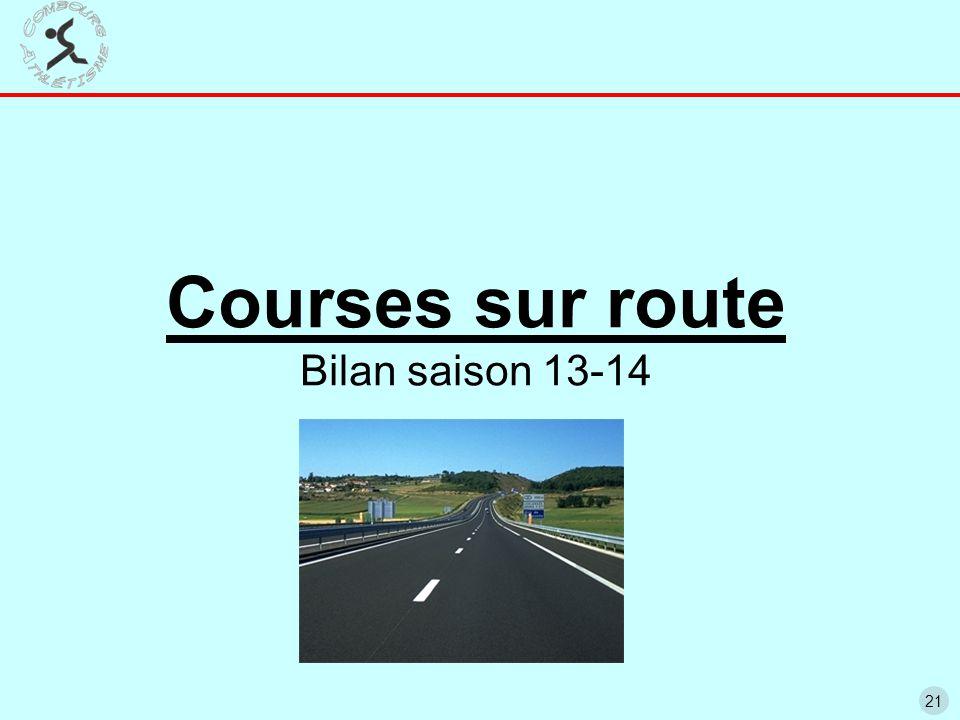 21 Courses sur route Bilan saison 13-14