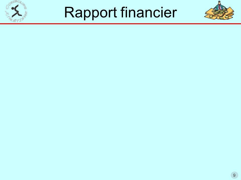 9 Rapport financier