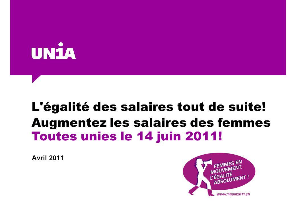 L égalité des salaires tout de suite.