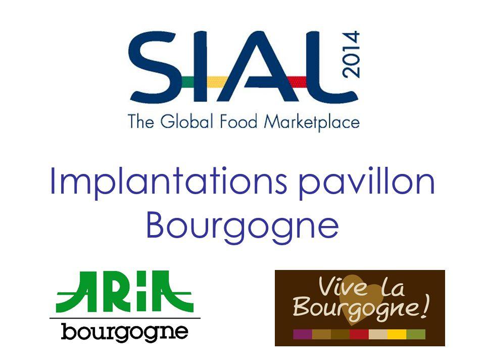 Implantations pavillon Bourgogne