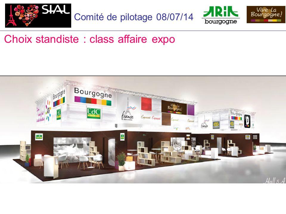 Comité de pilotage 08/07/14 Choix standiste : class affaire expo