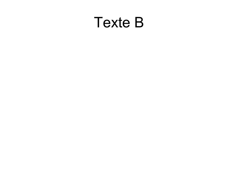 Texte B