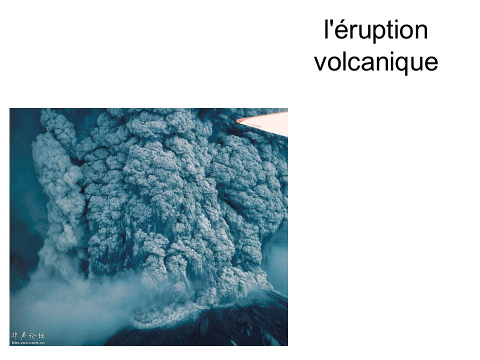 l'éruption volcanique