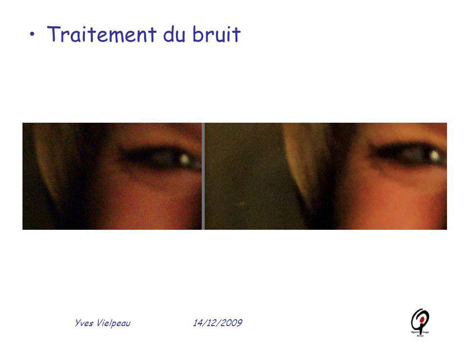 14/12/2009Yves Vielpeau Traitement du bruit