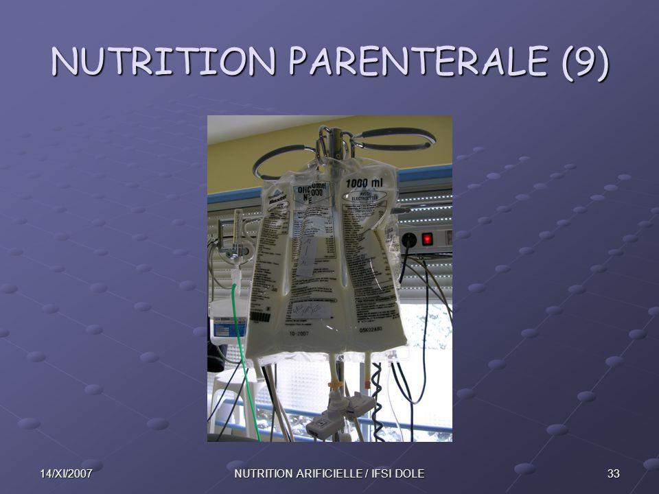 3314/XI/2007NUTRITION ARIFICIELLE / IFSI DOLE NUTRITION PARENTERALE (9)