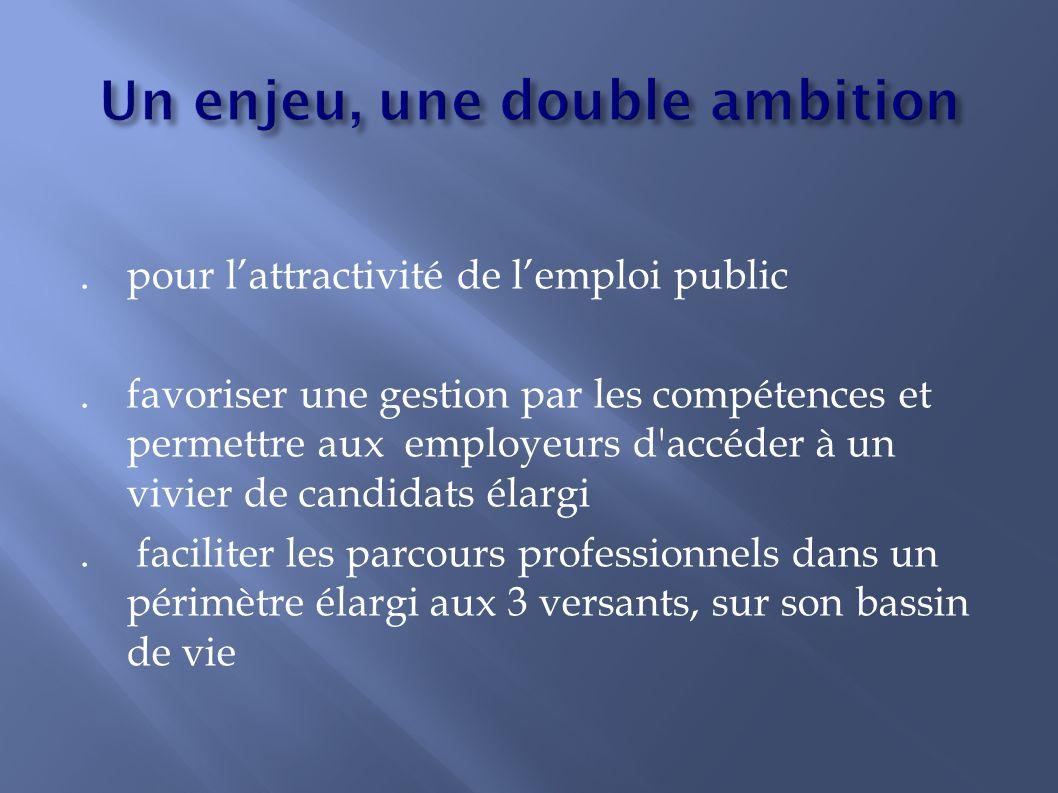 .pour l'attractivité de l'emploi public. favoriser une gestion par les compétences et permettre aux employeurs d'accéder à un vivier de candidats élar