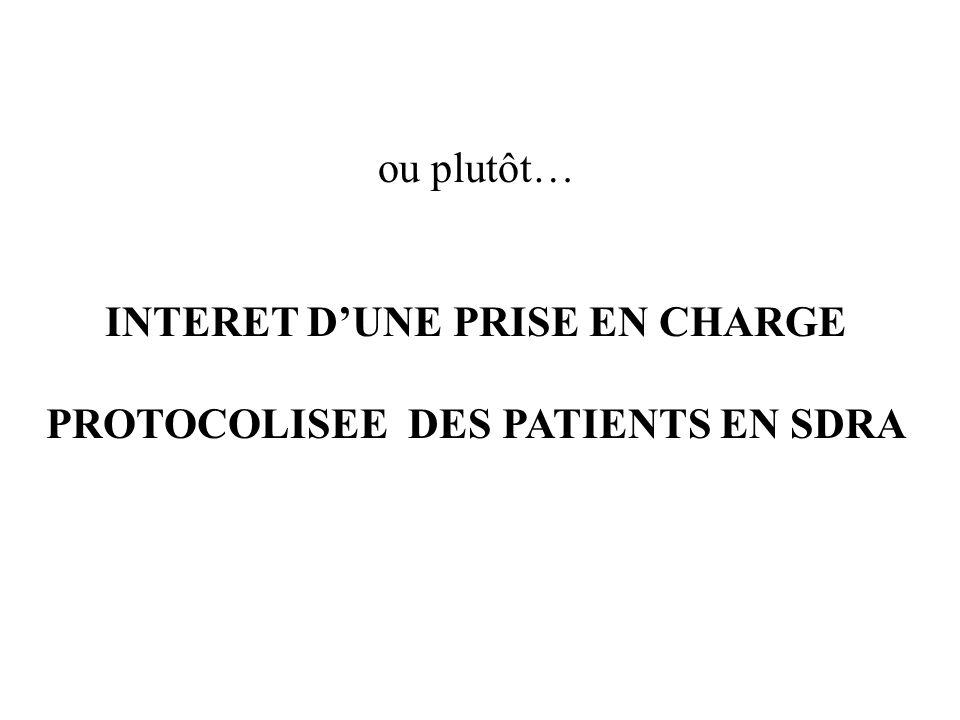 ou plutôt… INTERET D'UNE PRISE EN CHARGE PROTOCOLISEE DES PATIENTS EN SDRA