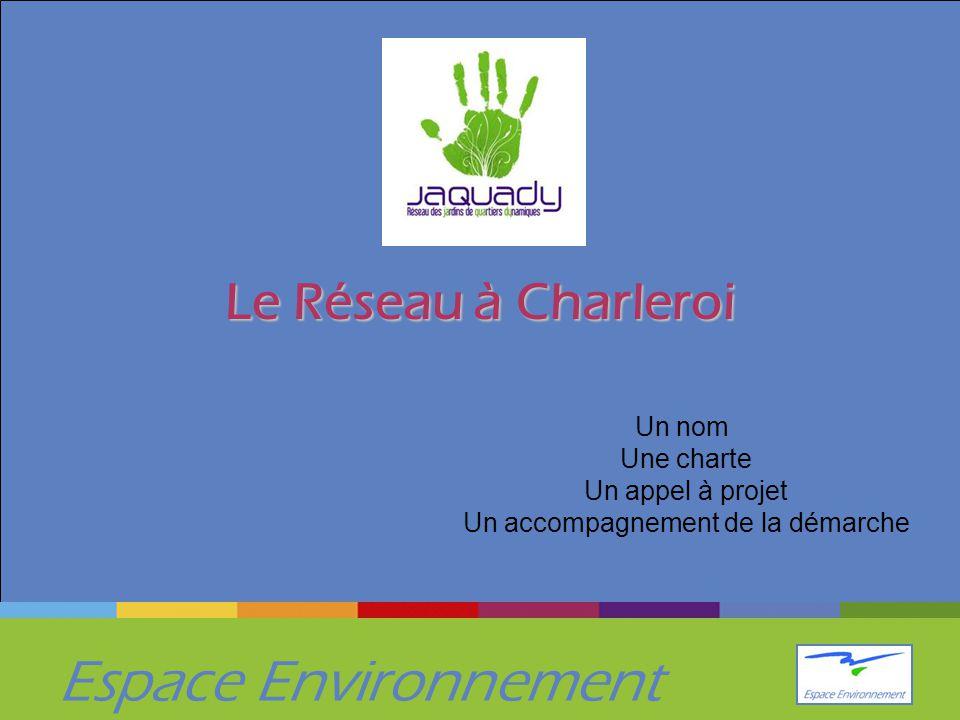 Espace Environnement Le Réseau à Charleroi Un nom Une charte Un appel à projet Un accompagnement de la démarche