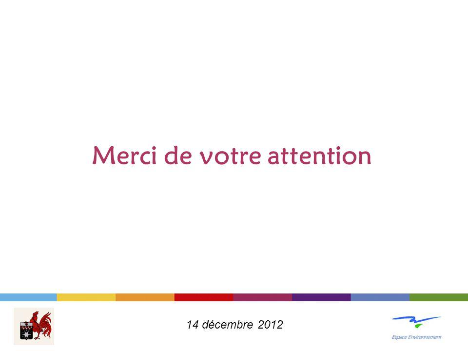 Merci de votre attention 14 décembre 2012