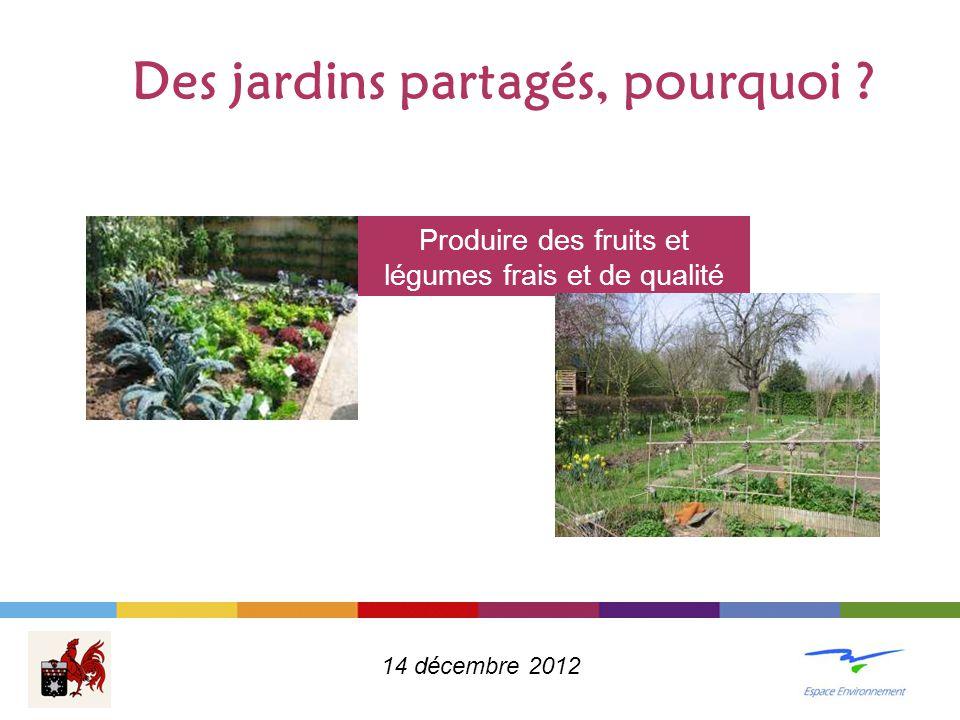 Des jardins partagés, pourquoi .