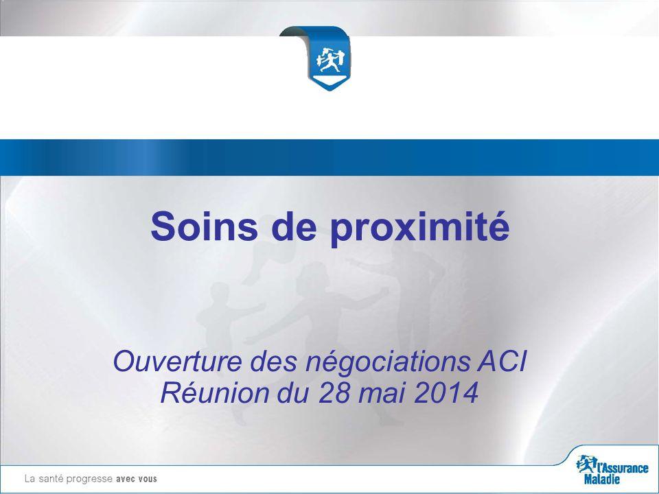 Soins de proximité Ouverture des négociations ACI Réunion du 28 mai 2014