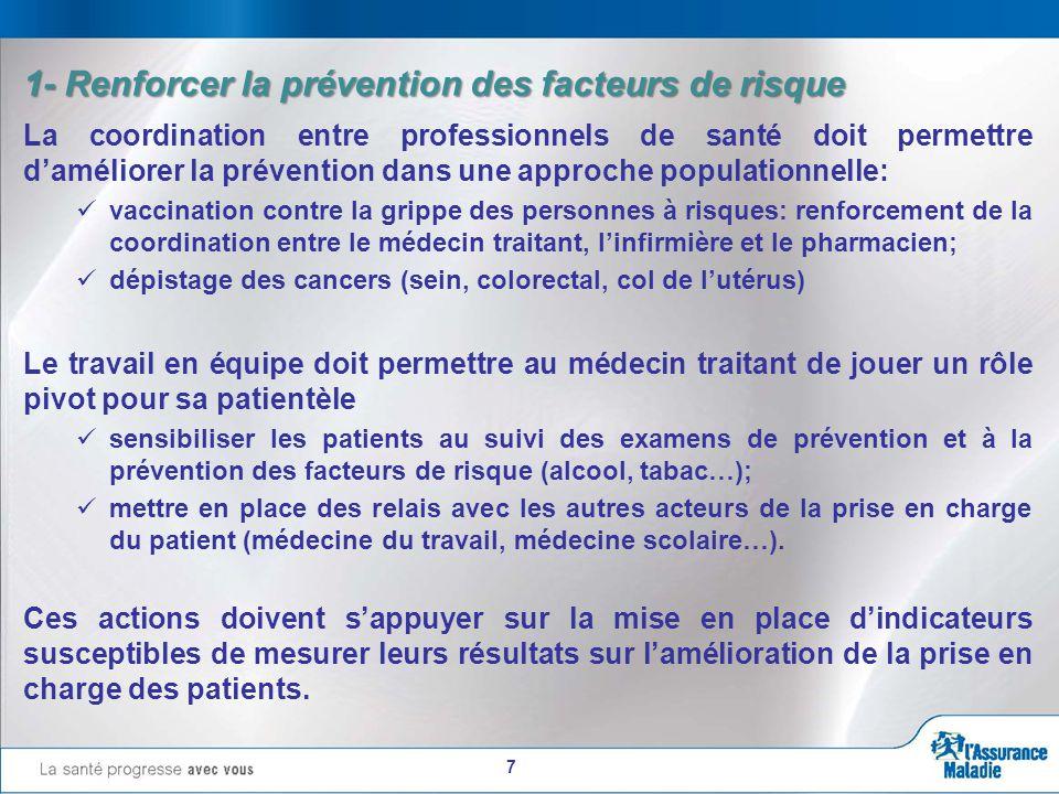 8 La prise en charge de ces patients doit permettre d'éviter ou retarder l'apparition de complications grâce à un suivi clinique et para clinique adapté, conforme aux données actuelles de la science.