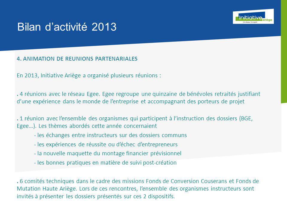 Bilan d'activité 2013 4.