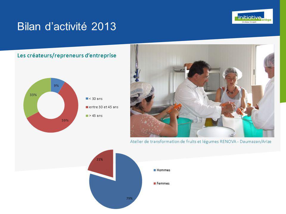 Bilan d'activité 2013 Les créateurs/repreneurs d'entreprise Atelier de transformation de fruits et légumes RENOVA - Daumazan/Arize