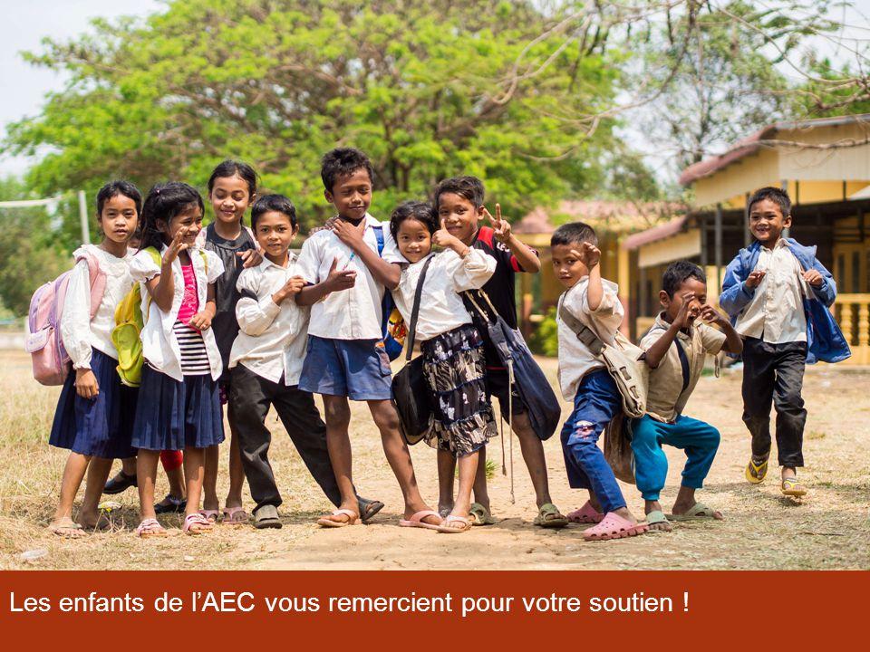 Les enfants de l'AEC vous remercient pour votre soutien !