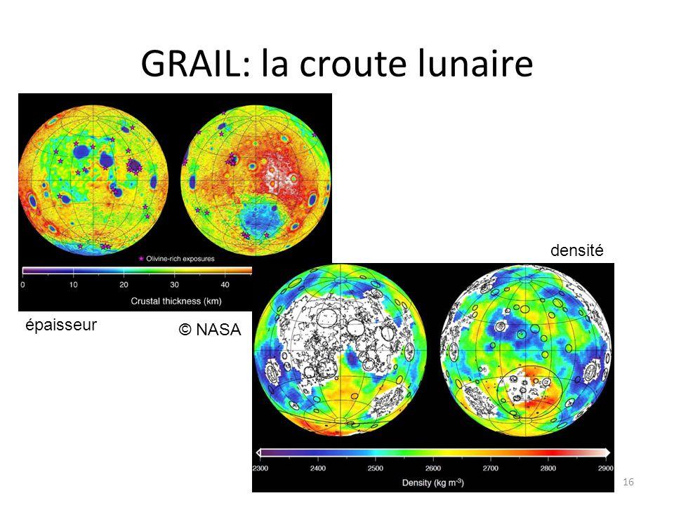 GRAIL: la croute lunaire 16 © NASA épaisseur densité