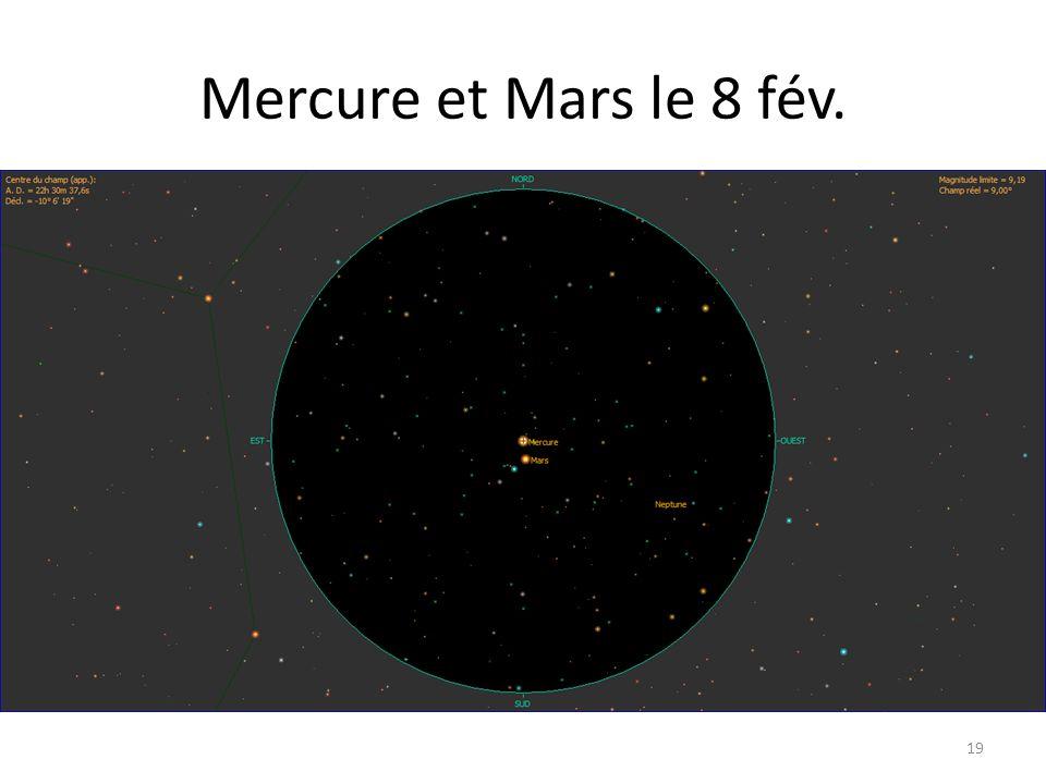 Mercure et Mars le 8 fév. 19