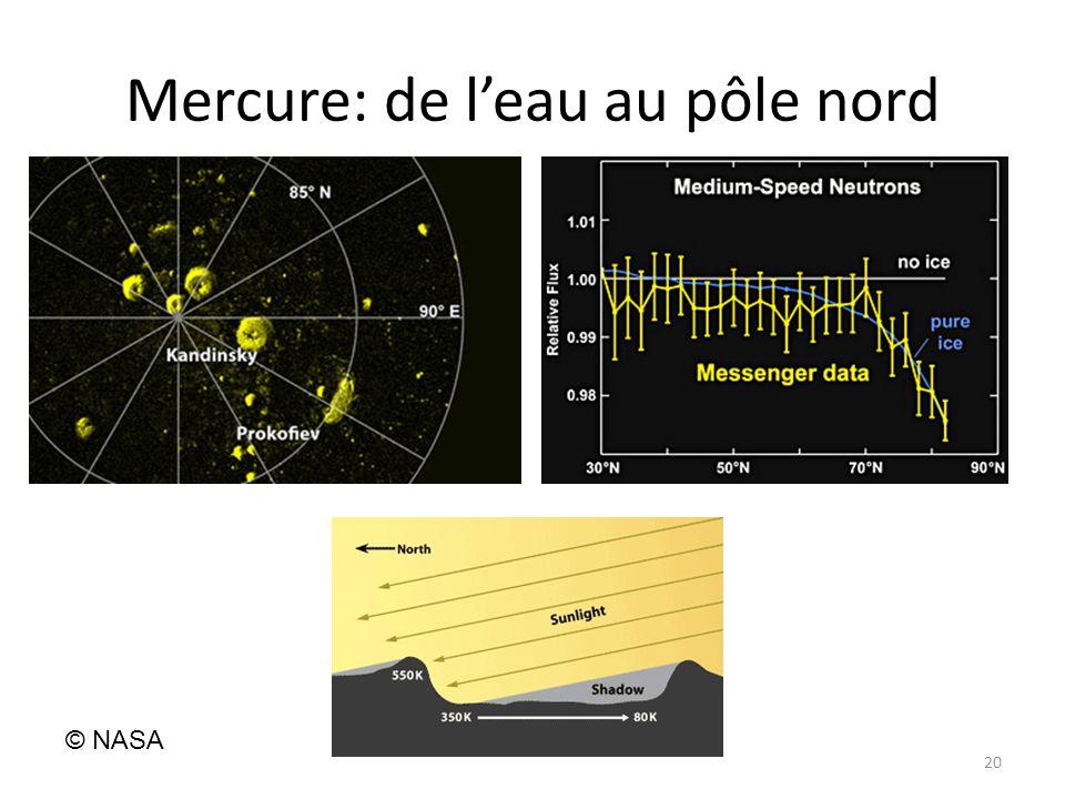 Mercure: de l'eau au pôle nord 20 © NASA