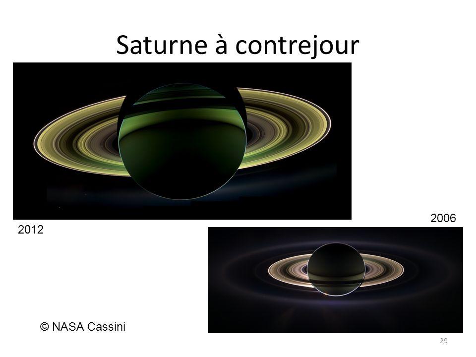 Saturne à contrejour 29 © NASA Cassini 2012 2006