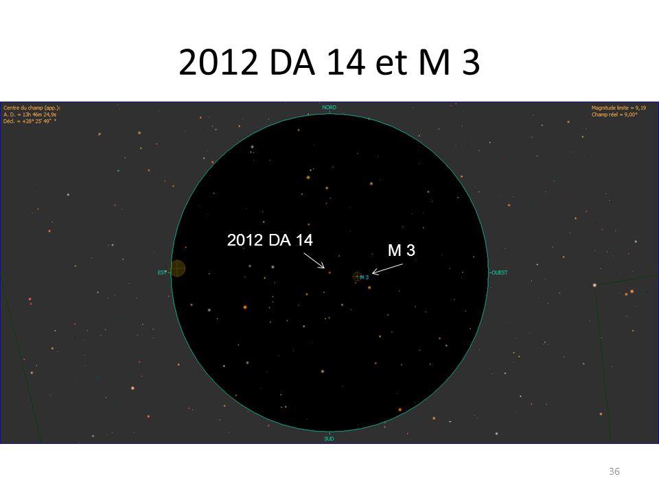 2012 DA 14 et M 3 36 M 3 2012 DA 14 M 3