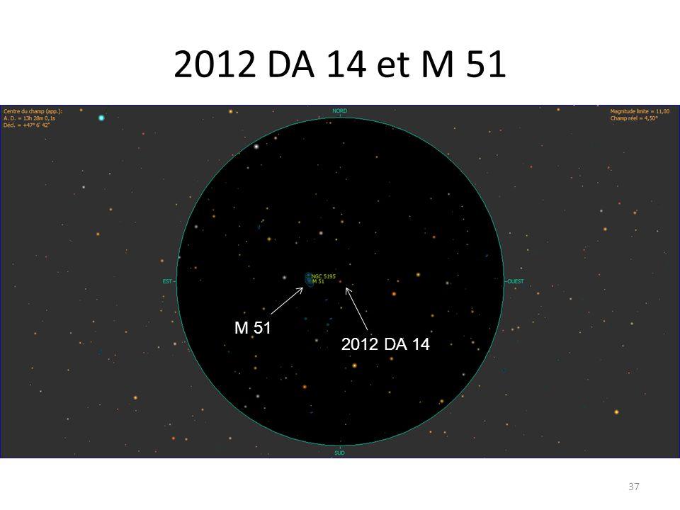 2012 DA 14 et M 51 37 M 51 2012 DA 14