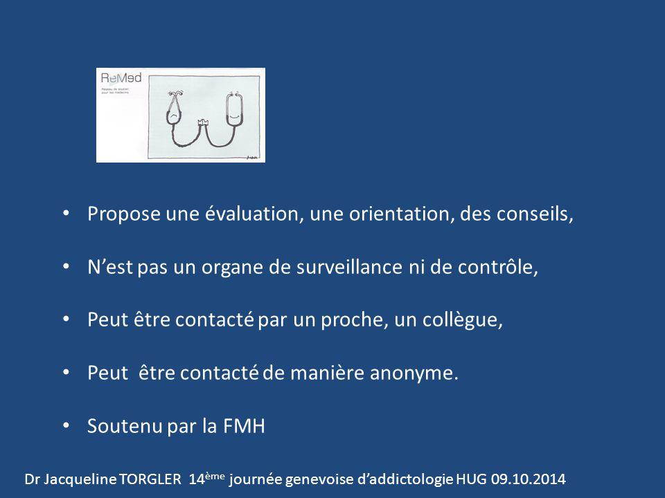 Propose une évaluation, une orientation, des conseils, N'est pas un organe de surveillance ni de contrôle, Peut être contacté par un proche, un collègue, Peut être contacté de manière anonyme.