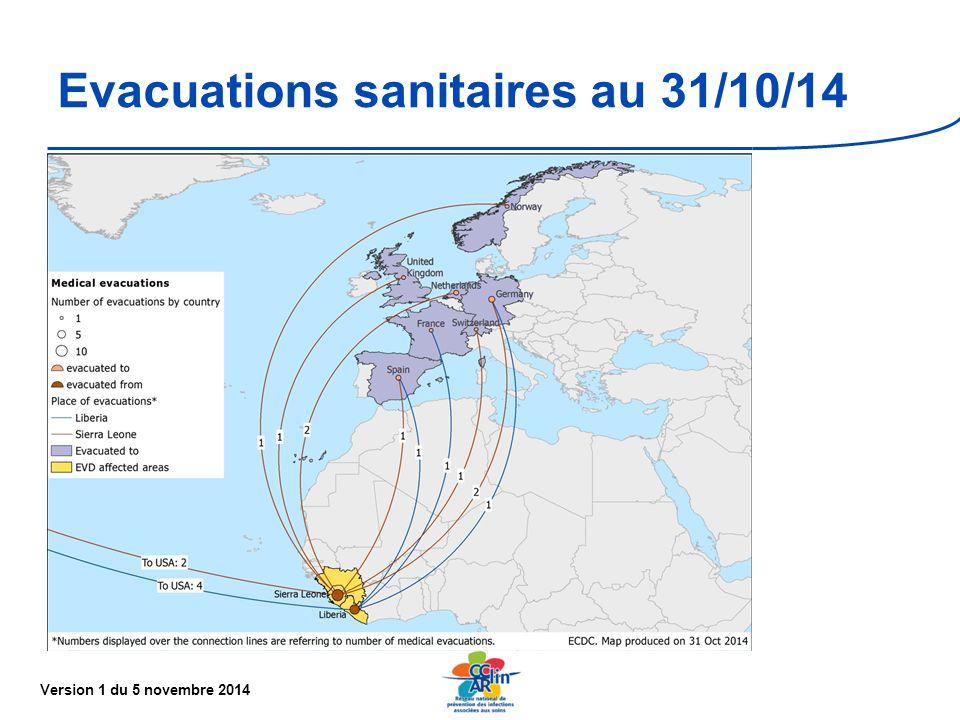 Version 1 du 5 novembre 2014 Evacuations sanitaires au 31/10/14