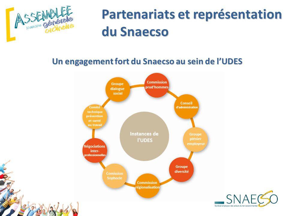 Partenariats et représentation du Snaecso Un engagement fort du Snaecso au sein de l'UDES
