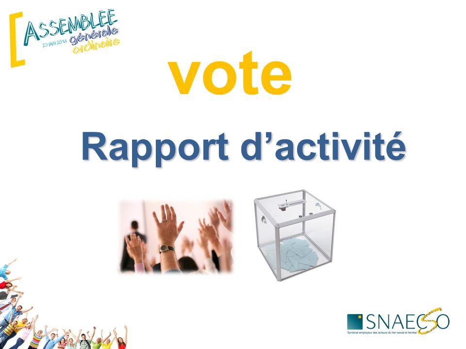 Rapport d'activité vote
