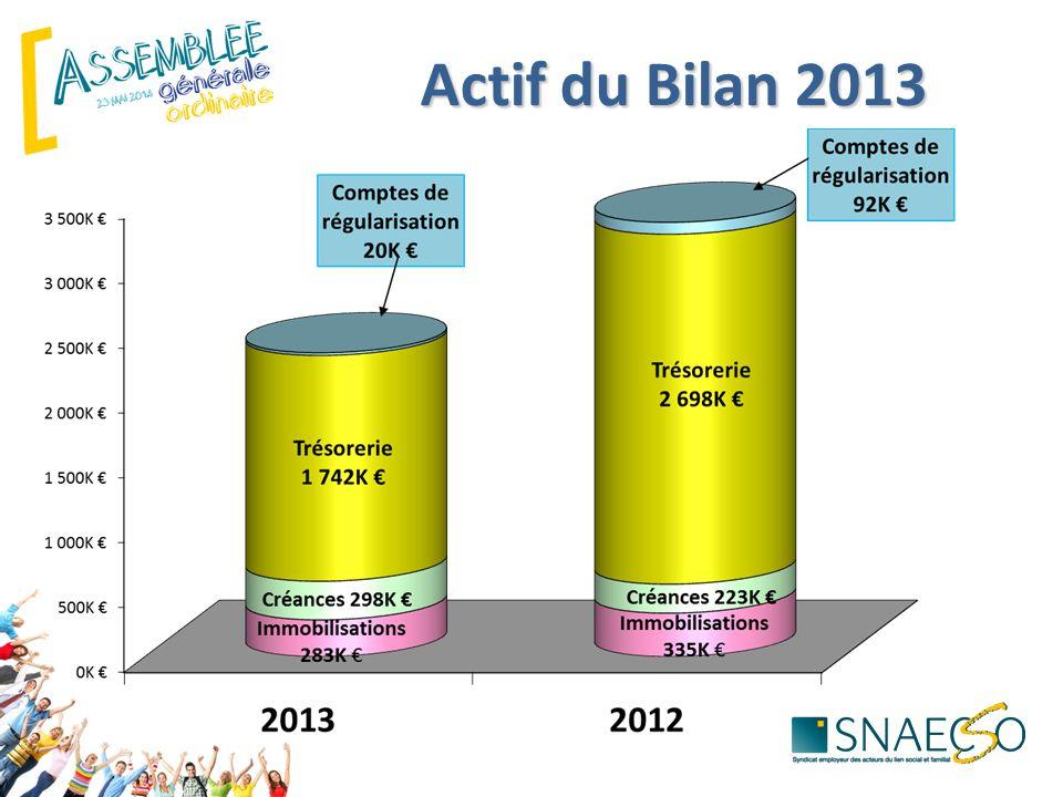 Actif du Bilan 2013