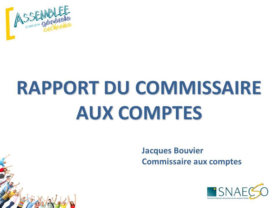 Jacques Bouvier Commissaire aux comptes RAPPORT DU COMMISSAIRE AUX COMPTES