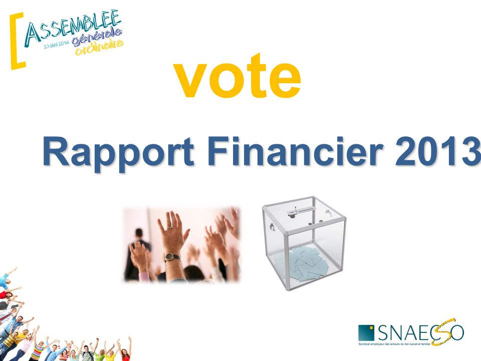 Rapport Financier 2013 vote