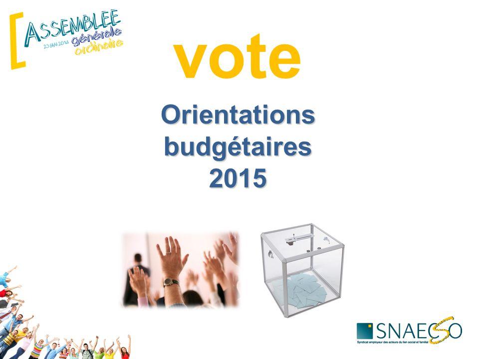 Orientations budgétaires 2015 vote
