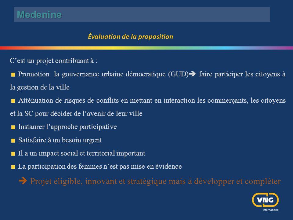 C'est un projet contribuant à : Promotion la gouvernance urbaine démocratique (GUD)  faire participer les citoyens à la gestion de la ville Atténuati