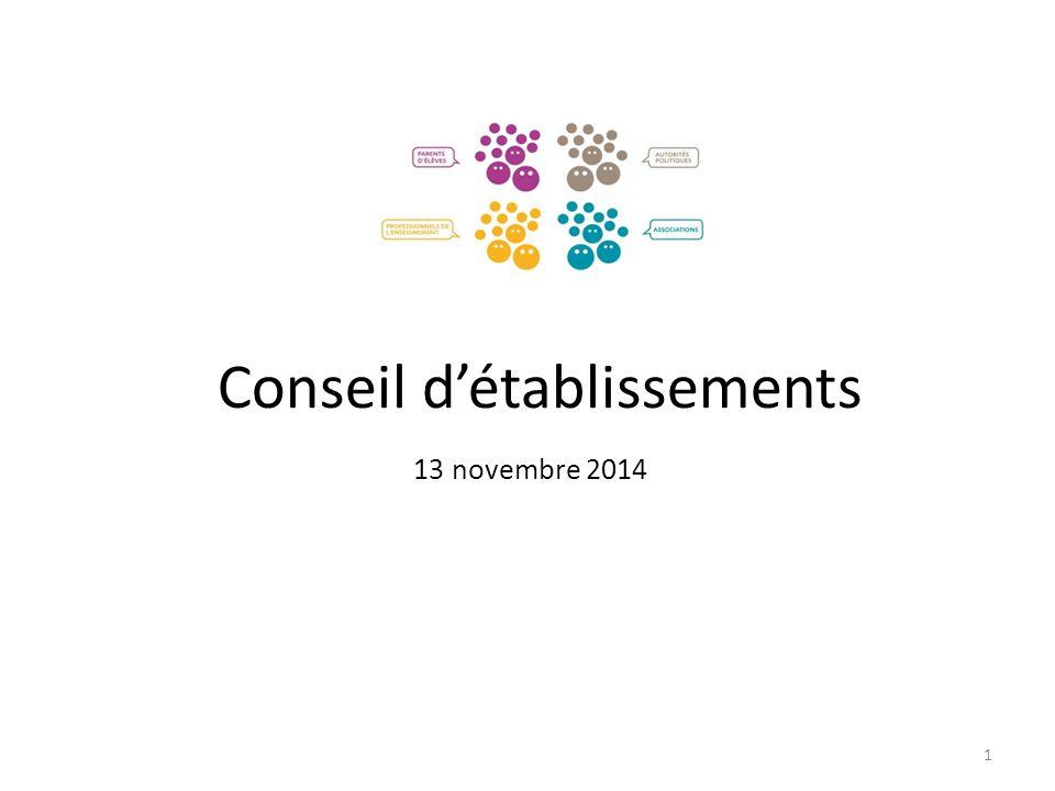 Conseil d'établissements 13 novembre 2014 1
