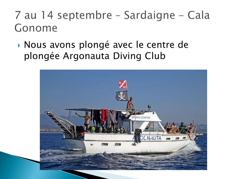  Nous avons plongé avec le centre de plongée Argonauta Diving Club