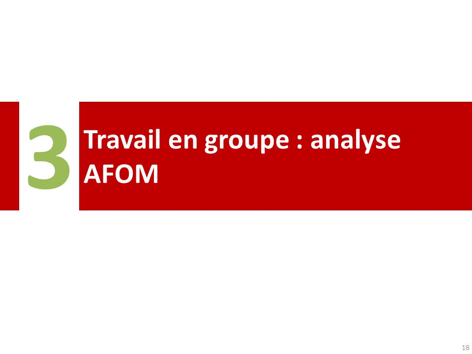 Travail en groupe : analyse AFOM 3 18
