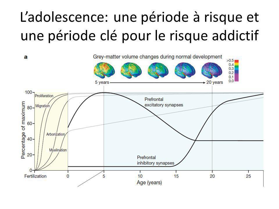 L'adolescence: une période à risque et une période clé pour le risque addictif