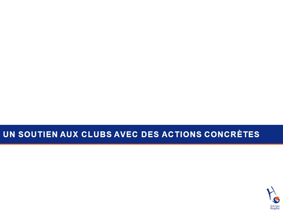 UN SOUTIEN AUX CLUBS AVEC DES ACTIONS CONCRÈTES