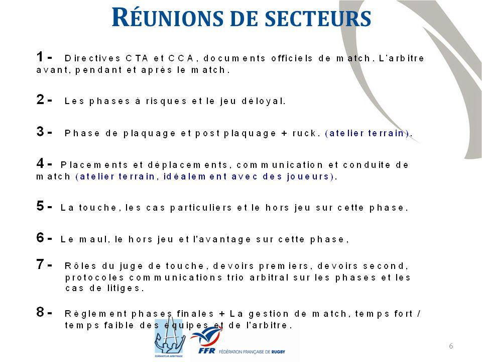 7 R ÉUNIONS INTER - SECTEURS - Réunion inter-secteur Gard et Vaucluse samedi 22 novembre 2014.