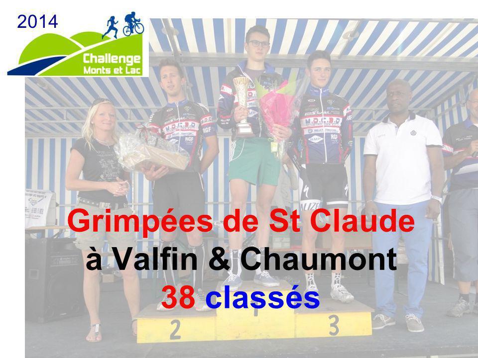 Grimpées de St Claude à Valfin & Chaumont 38 classés 2014