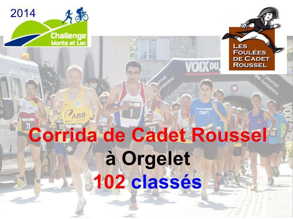 Corrida de Cadet Roussel à Orgelet 102 classés 2014