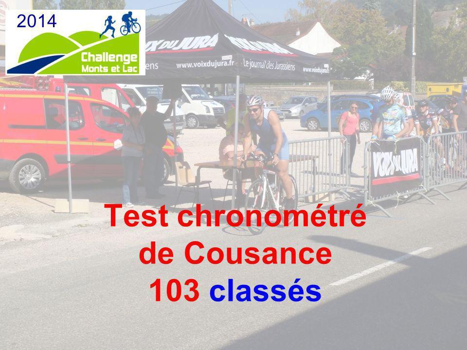 Test chronométré de Cousance 103 classés 2014
