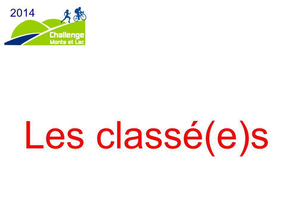 Les classé(e)s 2014