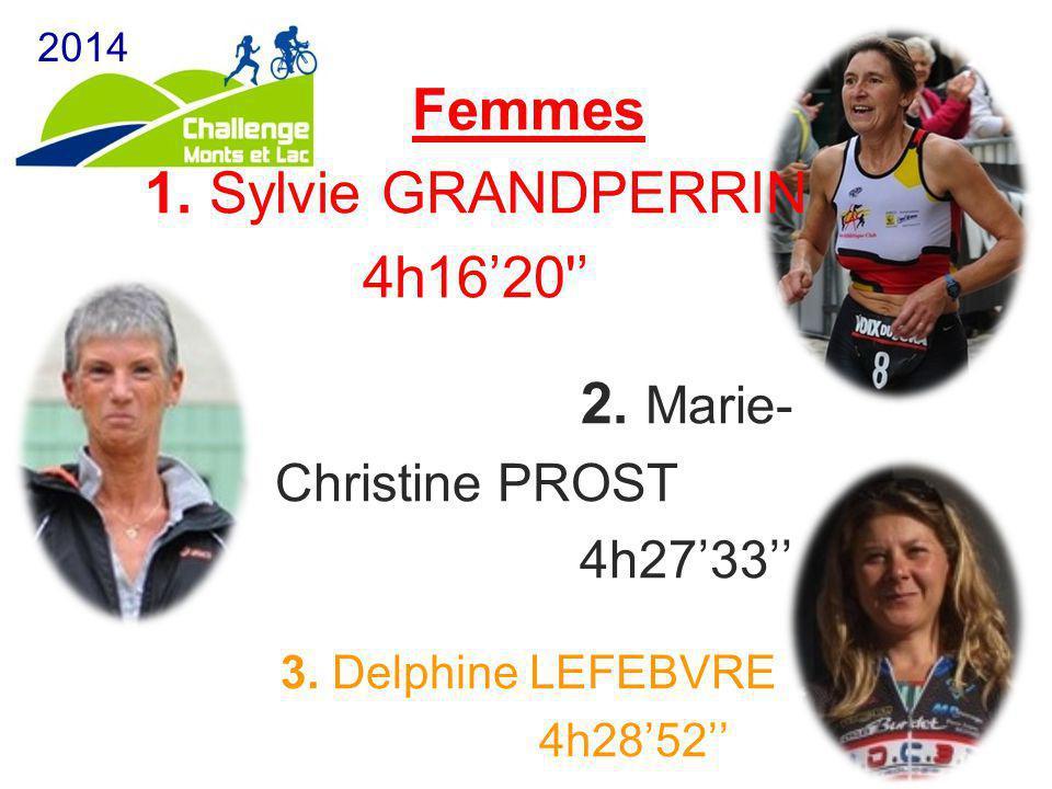 Femmes 1. Sylvie GRANDPERRIN 4h16'20'' 2. Marie- Christine PROST 4h27'33'' 3. Delphine LEFEBVRE 4h28'52''