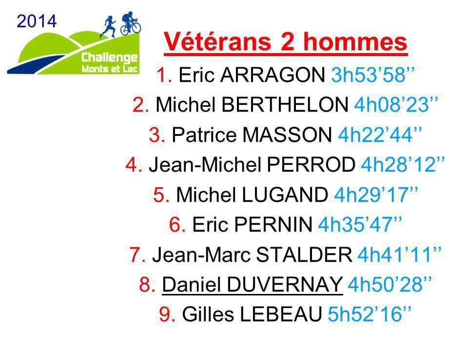 Vétérans 2 hommes 1. Eric ARRAGON 3h53'58'' 2. Michel BERTHELON 4h08'23'' 3. Patrice MASSON 4h22'44'' 4. Jean-Michel PERROD 4h28'12'' 5. Michel LUGAND