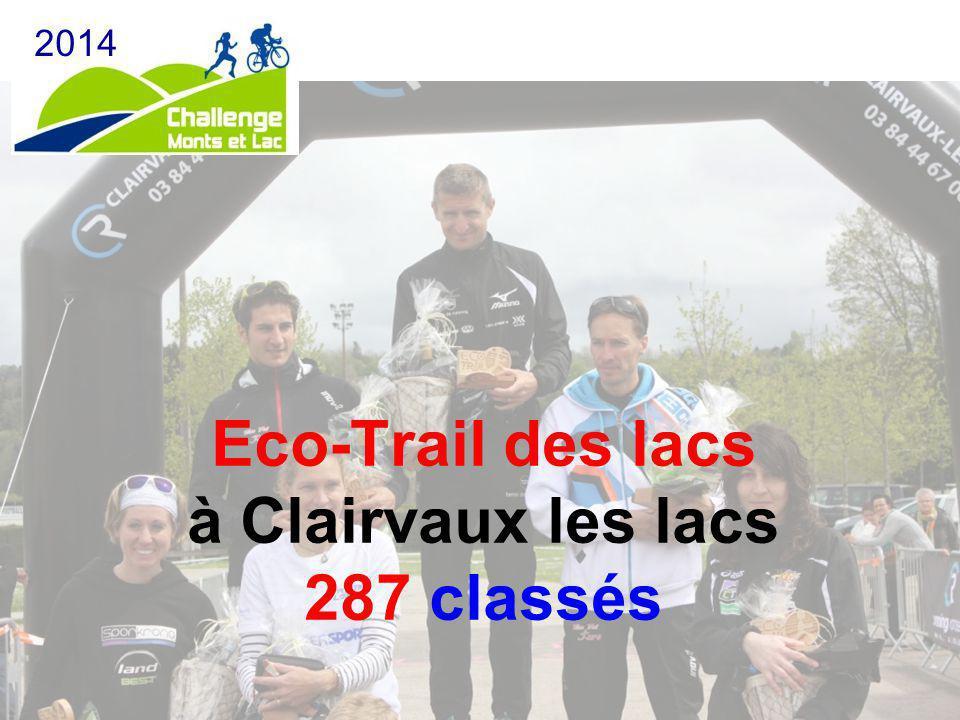 Eco-Trail des lacs à Clairvaux les lacs 287 classés 2014
