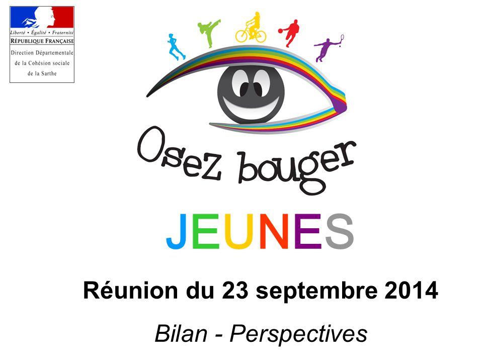 JEUNES Réunion du 23 septembre 2014 Bilan - Perspectives